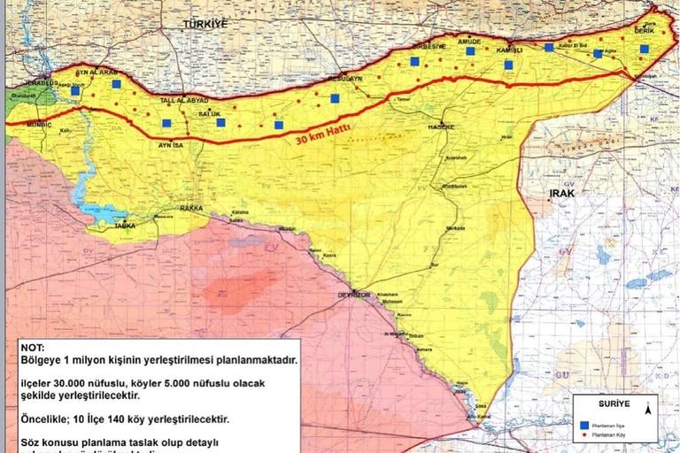 La zona de seguridad separaría el espacio dominado por la milicia kurda