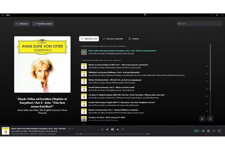 El catálogo de música clásica de Tidal está muy por debajo del de Spotify y abundan los compilados. En la imagen, uno digno de la gran Anne Sofie von Otter