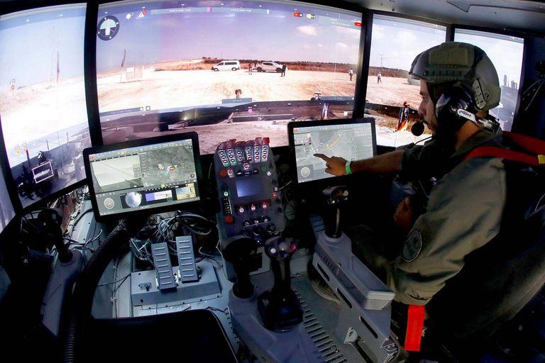 Carmel: así es el tanque de Israel controlado con tabletas y un mando de Xbox