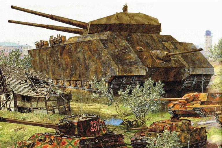 El megatanque nazi de 1000 toneladas que obsesionó a Hitler pero no vio la luz