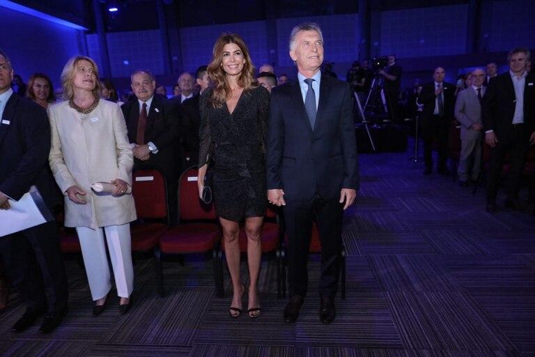 Mauricio Macri y Juliana Awada en la celebración por los 150 años de LA NACION