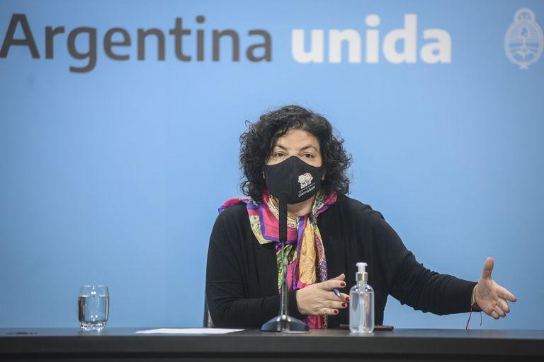 Carla Vizzotti, Claudia Madies y Sonia Tarragona en conferencia de prensa para referirse a la situación sanitaria por el COVID-19