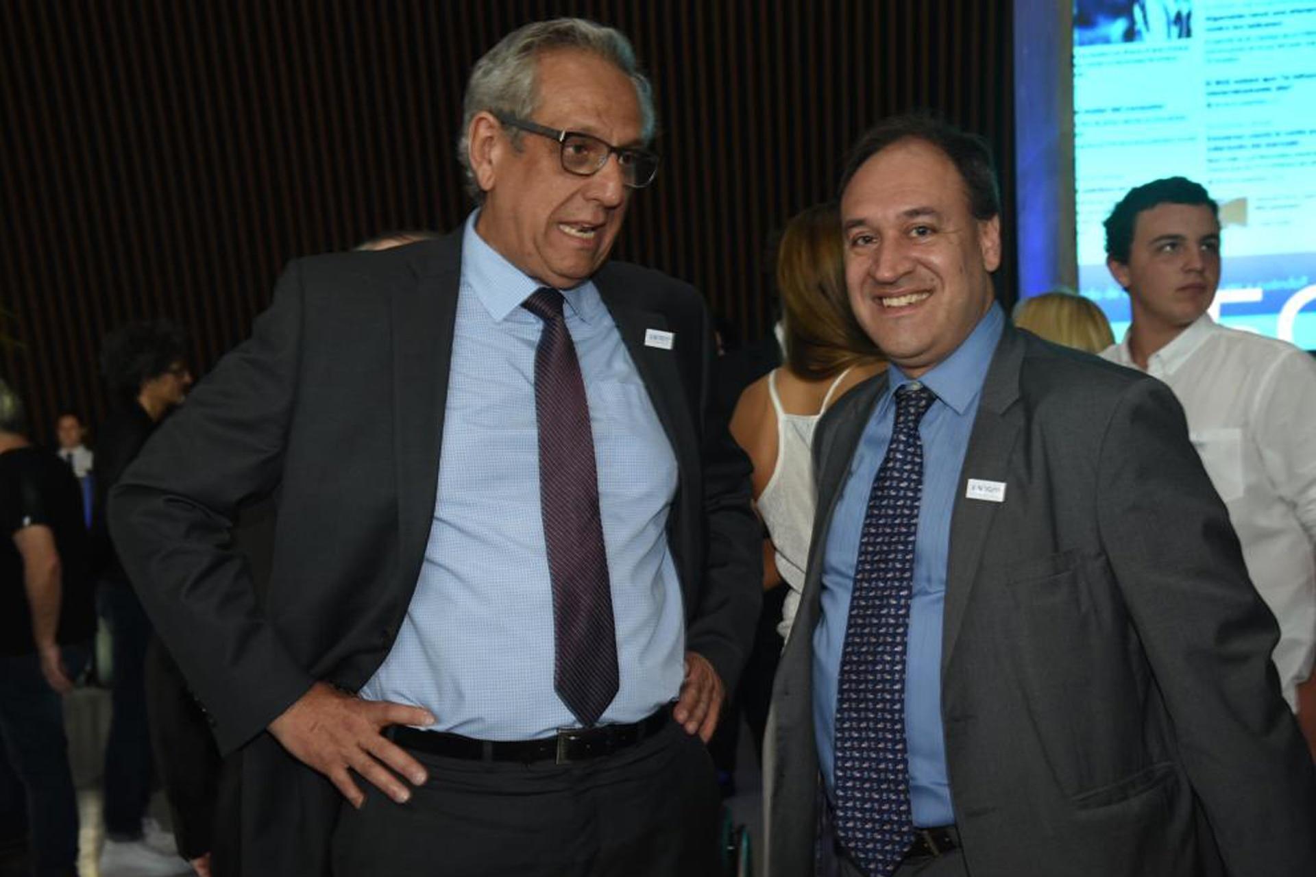 El periodista Fernando Laborda (derecha) y Facundo Suárez Lastra