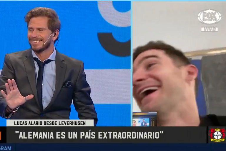 El conductor de 90 Minutos de Fútbol se rió de su propio meme con el jugador del Bayer Leverkusen.