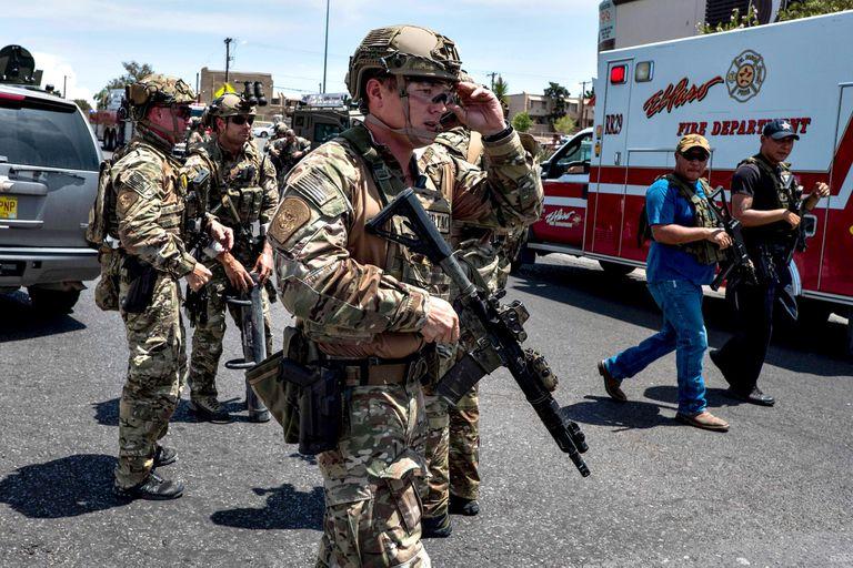 Fuerzas federales en el centro comercial de El Paso