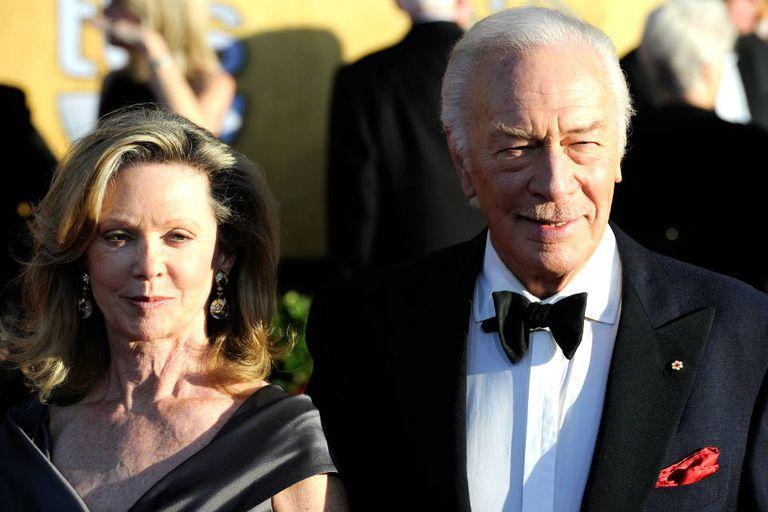 El canadiense Christopher Plummer y su mujer, la actriz Elaine Taylor