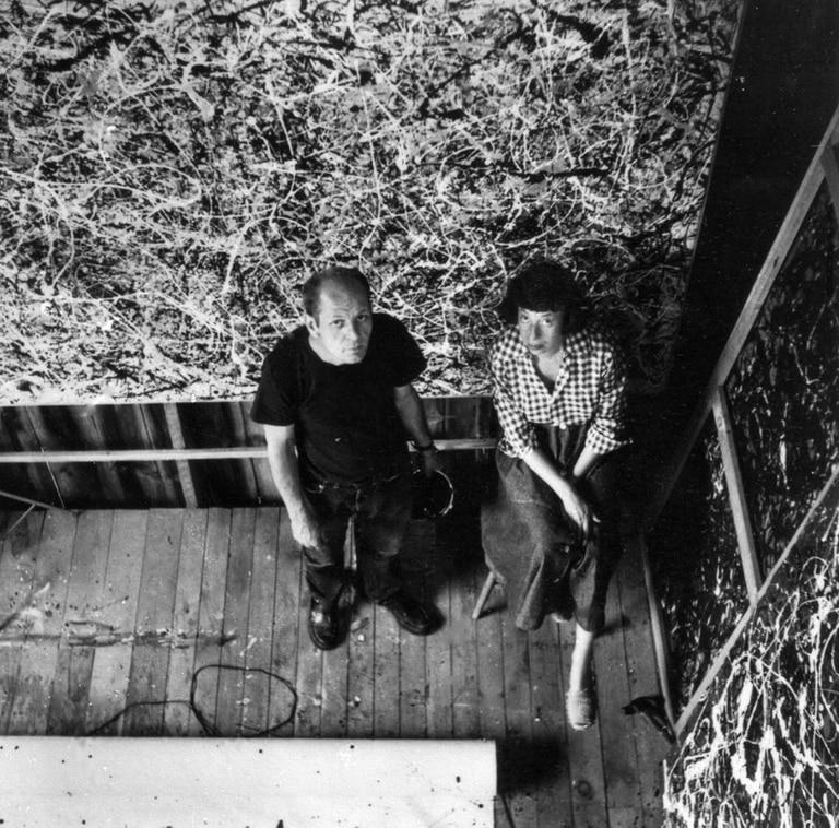 Kassner se enamoró de Pollock, el más celebrado artista del expresionismo abstracto, un hombre atormentado. (Rudolph Burckhardt/Pollock-Krasner Foundation)