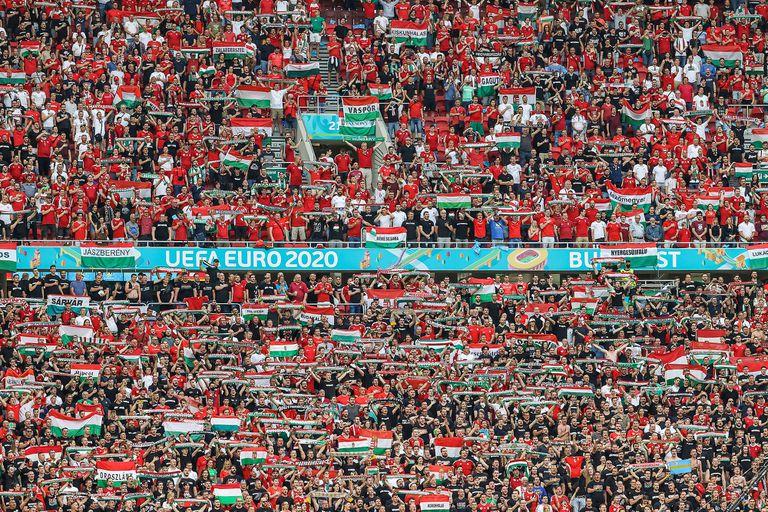 Impresionante: así lució el Puskas Arena repleto durante el partido de la Eurocopa que disputaron Portugal y Hungría