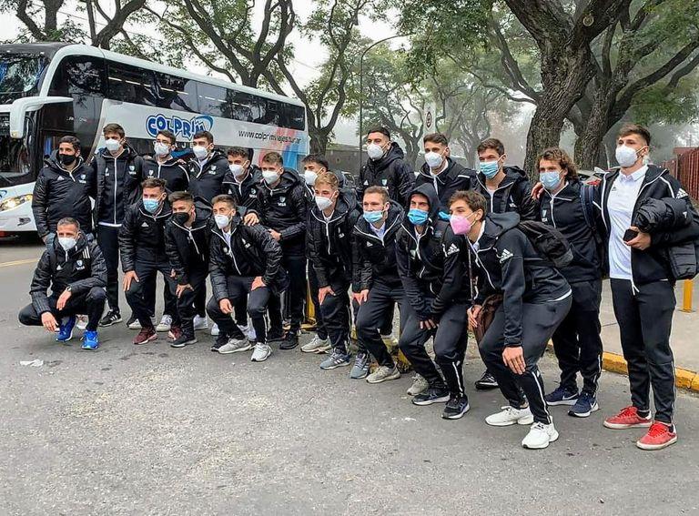 Los Leoncitos que se aprestaban a formar parte del torneo en Santiago de Chile