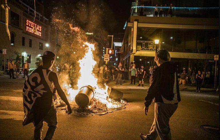 Protestas en Minneapolis por la muerte de Winston Boogie Smith Jr.