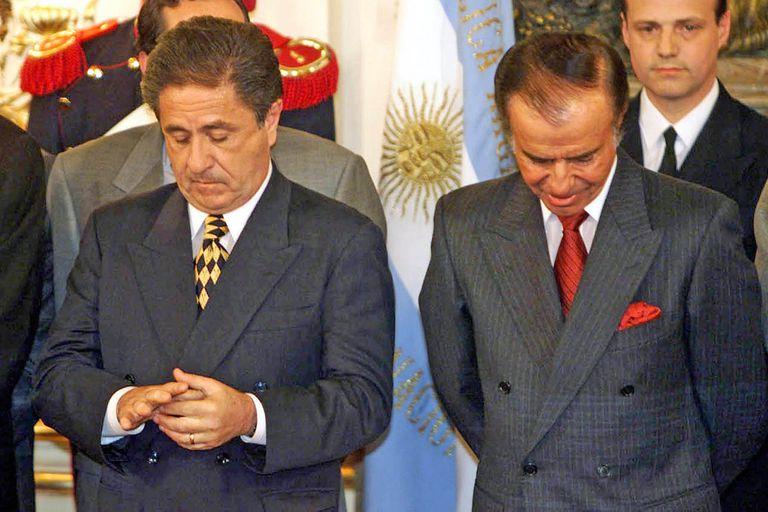 Eduardo Duhalde, vicepresidente durante el gobierno de Carlos Menem