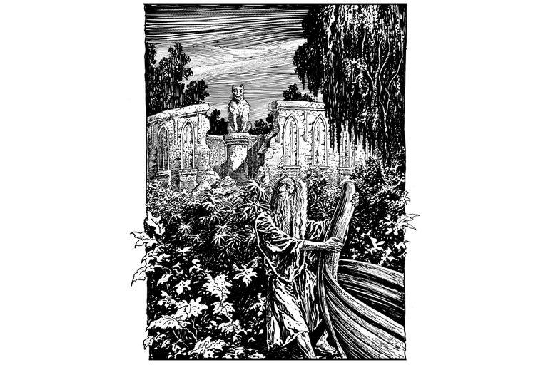 """""""Las ruinas circulares"""" por Enrique Alcatena."""
