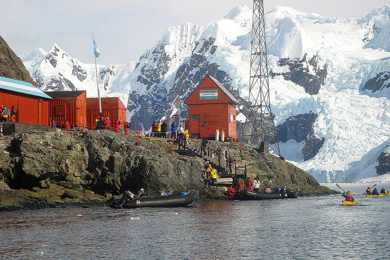 La Base antártica Brown es una de las estaciones temporarias de la Argentina desde 1984
