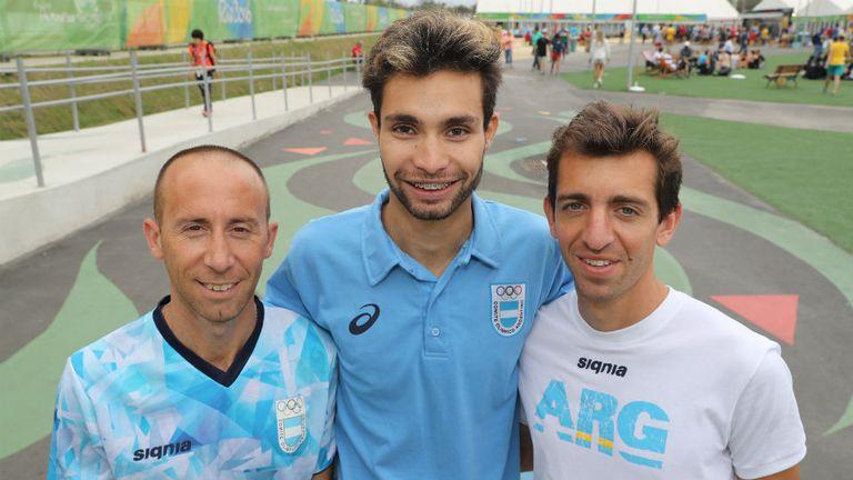 Mastromarino, Bruno y Molina, juntos en la VIlla Olímpica