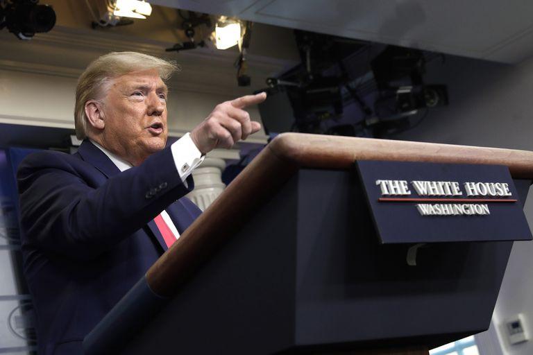 Trump, en un anuncio en la Casa Blanca