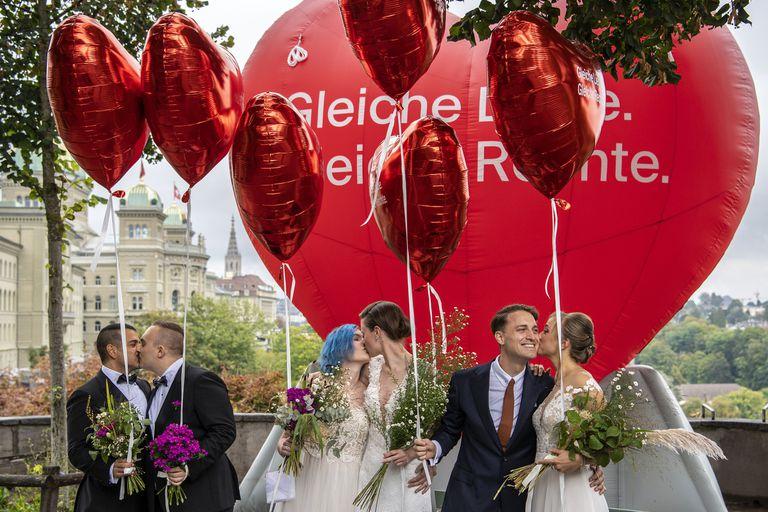 """Suiza le dijo que """"sí"""" al matrimonio igualitario en un referéndum"""