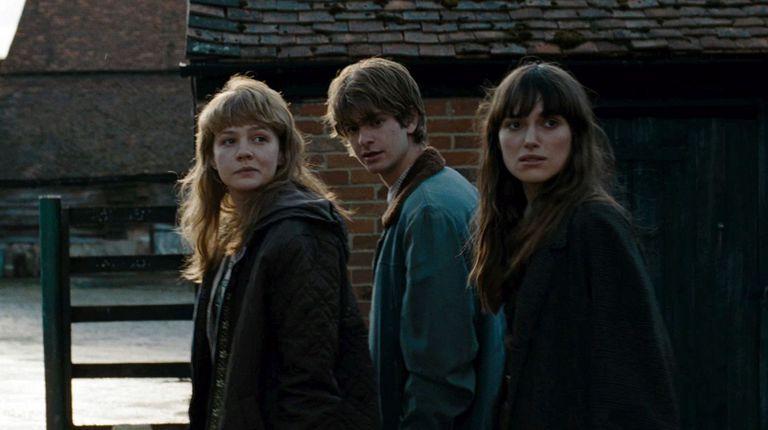 Carey Mulligan, Keira Knightley y Andrew Garfield en Nunca me abandones.