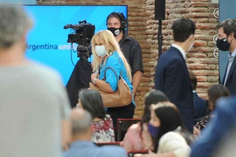 Marcela Losardo, en el acto por el Día de la Mujer, en la Casa Rosada