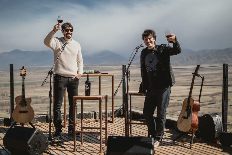 El enólogo Andrés Vignoni y Andrés Ciro Martínez, socios en el vino Tan Solo