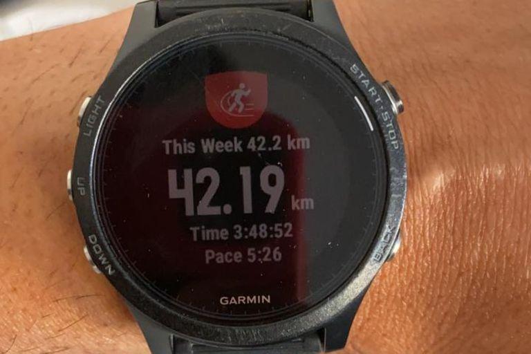 El reloj con el tiempo registrado