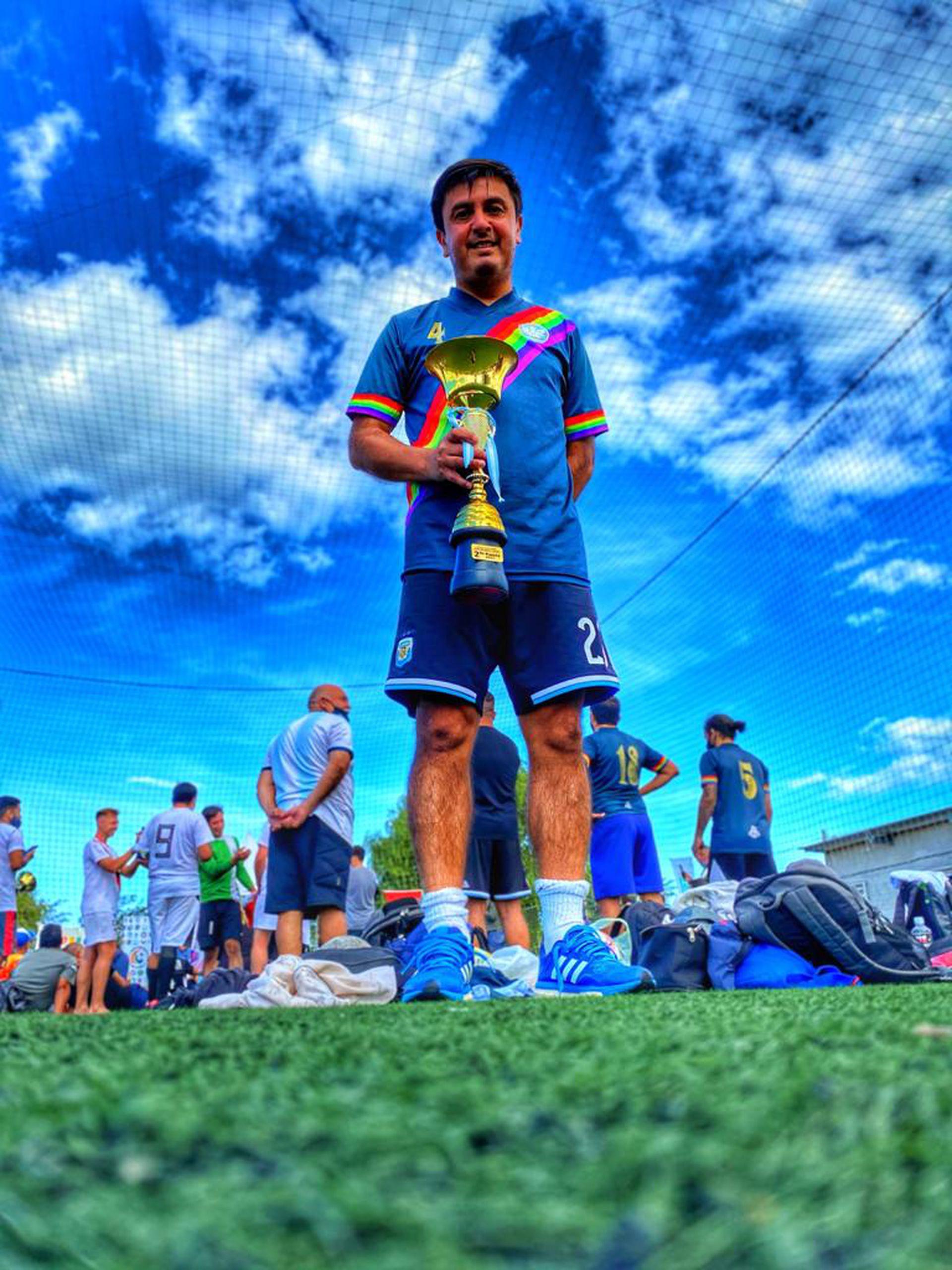 Claudio Blanco, jugador de Los Dogos e impulsor del Mundial de Fútbol Gay a disputarse en Argentina en el 2024