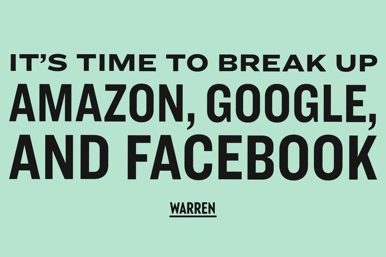 Para la senadora estadounidense Elizabeth Warren, cualquier compañía tecnológica que gane más de 25 mil millones de dólares debe ser tratada como una plataforma de servicio público
