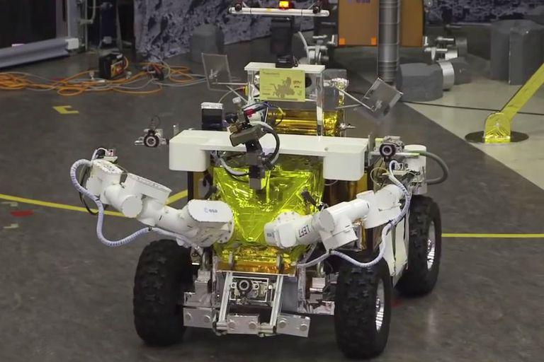Uno de los robots empleados en el proyecto METERON de la Agencia Espacial Europea, que planea analizar a Marte mediante humanoides controlados por astronautas que orbitan el planeta rojo
