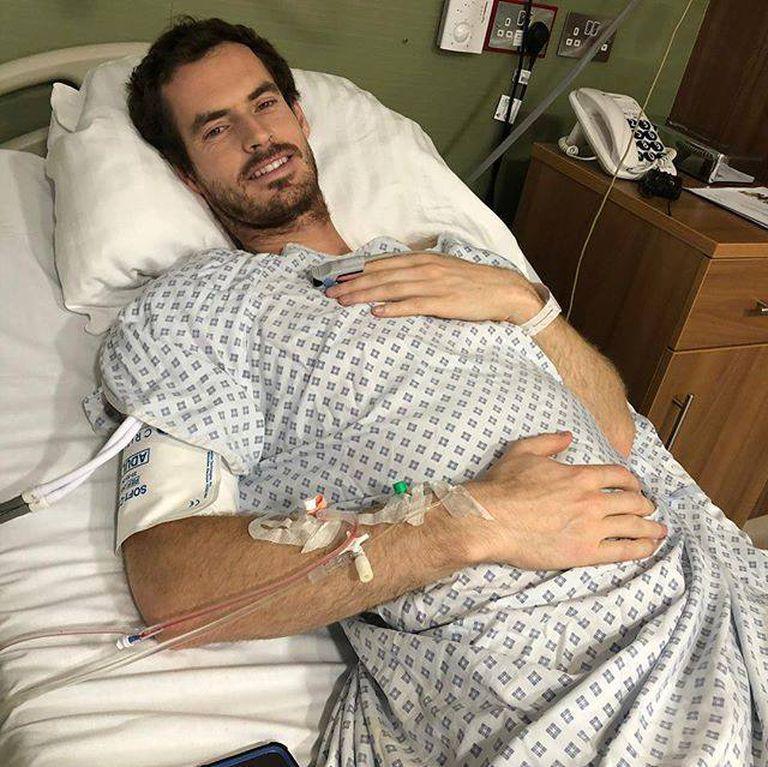 Andy Murray en enero de 2019, cuando se sometió a la segunda cirugía de cadera y creyó que ya no volvería a jugar al tenis profesional.