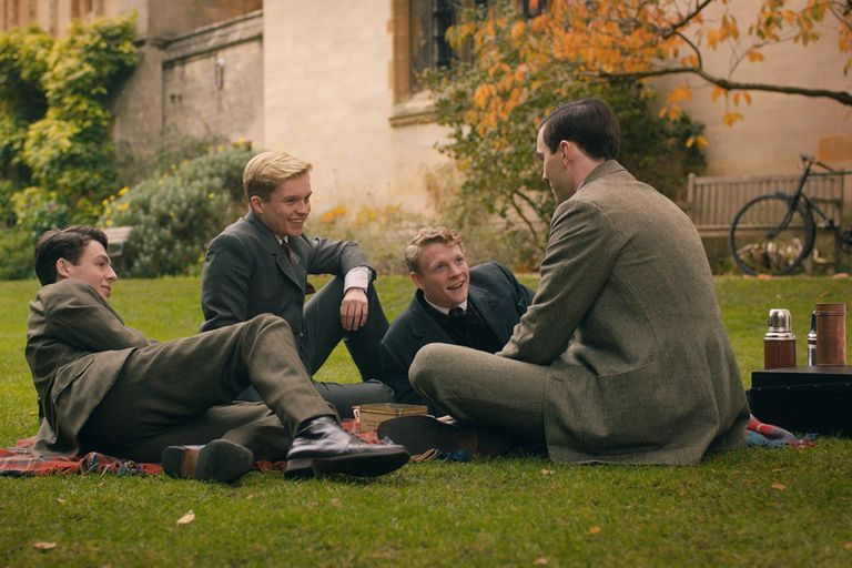 Una escena de Tolkien, film que está en cartelera en los cines argentinos