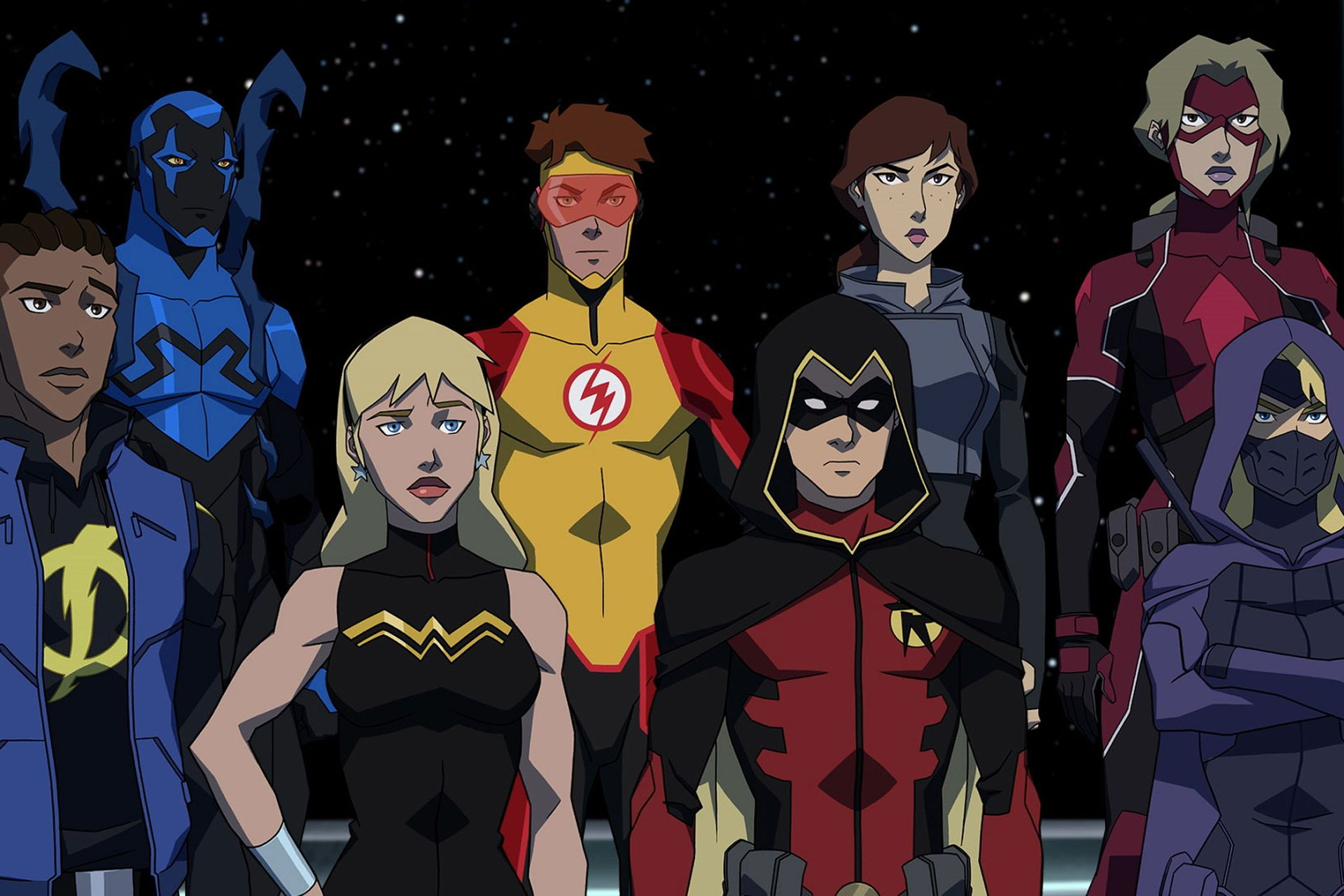 Young Justice Outsiders, animados y del futuro
