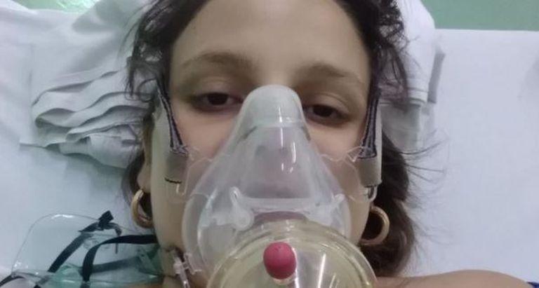 Lydda María Rivero, de 23 años, a punto de dar a luz a su segundo bebé
