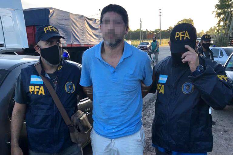 El momento de la captura de Diego Guida, en la localidad de Claypole