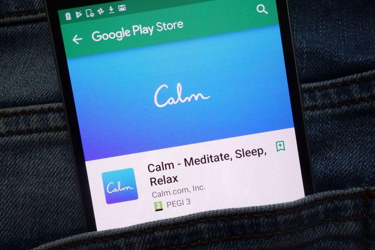 Calm ofrece opciones para meditar y relajarse, es de descarga gratis y ofrece contenido exclusivo con un abono anual de 70 dólares