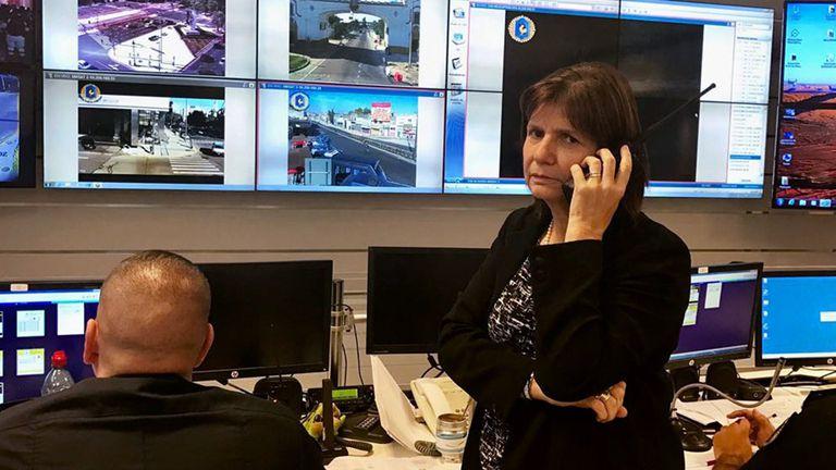 Patricia Bullrich resaltó el accionar de las fuerzas de seguridad durante el paro