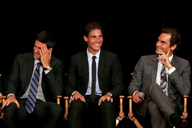 El 2, el 1 y el 3: Djokovic, Nadal y Federer, leyendas y líderes de un circuito que renovará los desafíos en 2020.