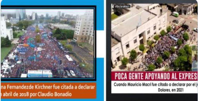 Aníbal Fernández comparó la marcha a favor de Macri con otra de Cristina en Comodoro Py