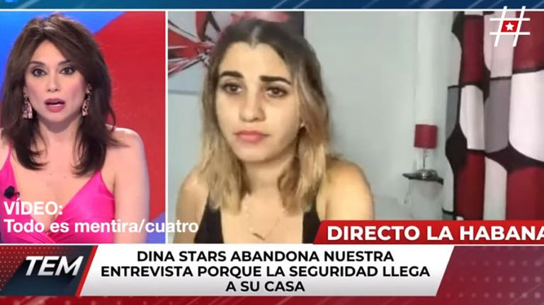 La influencer Dina Stars, antes de dar por terminada la entrevista