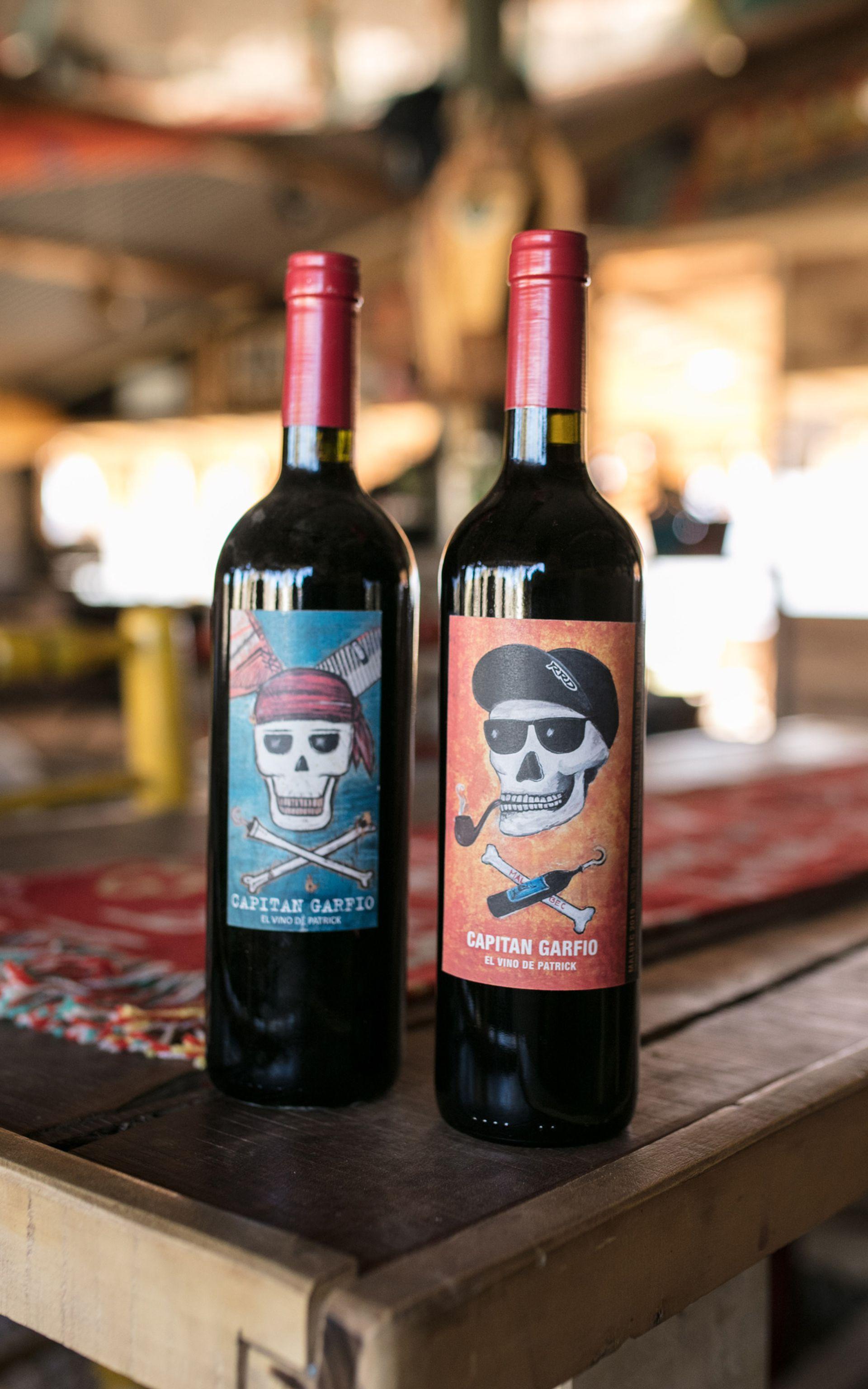 Los vinos Capitán Garfio de Patrick Monaco.