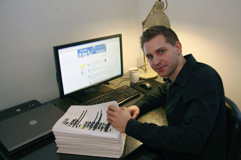 Max Schrems en 2011, cuando esta estudiante e hizo su primera demanda contra Facebook