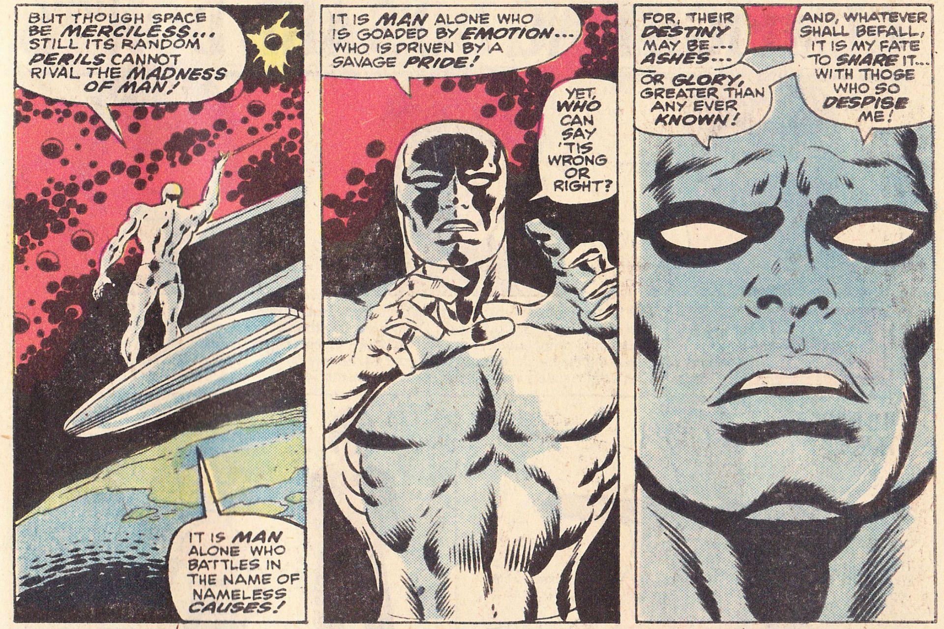 Silver Surfer mostró la cara más inspirada del guionista