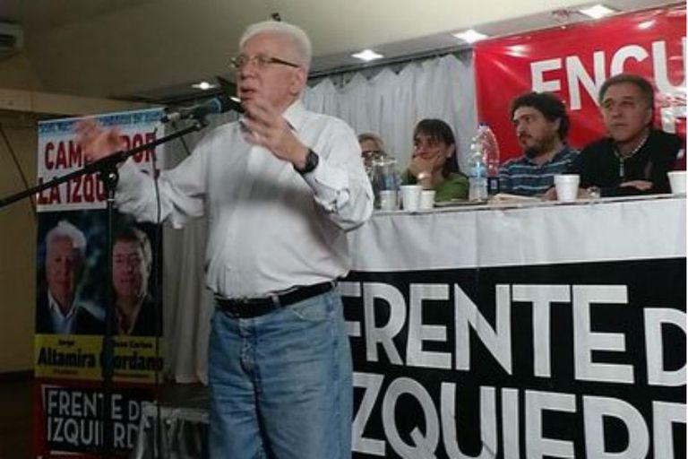 Jorge Altamira encabezó hoy un plenario con dirigentes de sindicatos combativos