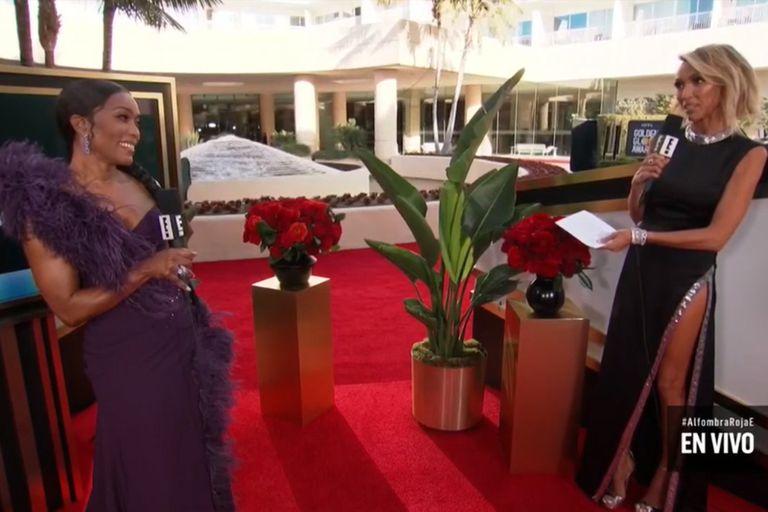 Durante su paso por la red carpet, Angela Basset recordó a Chadwick Boseman
