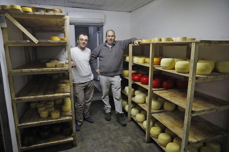 Gerardo Bras y Javier Melchior, socios del tambo