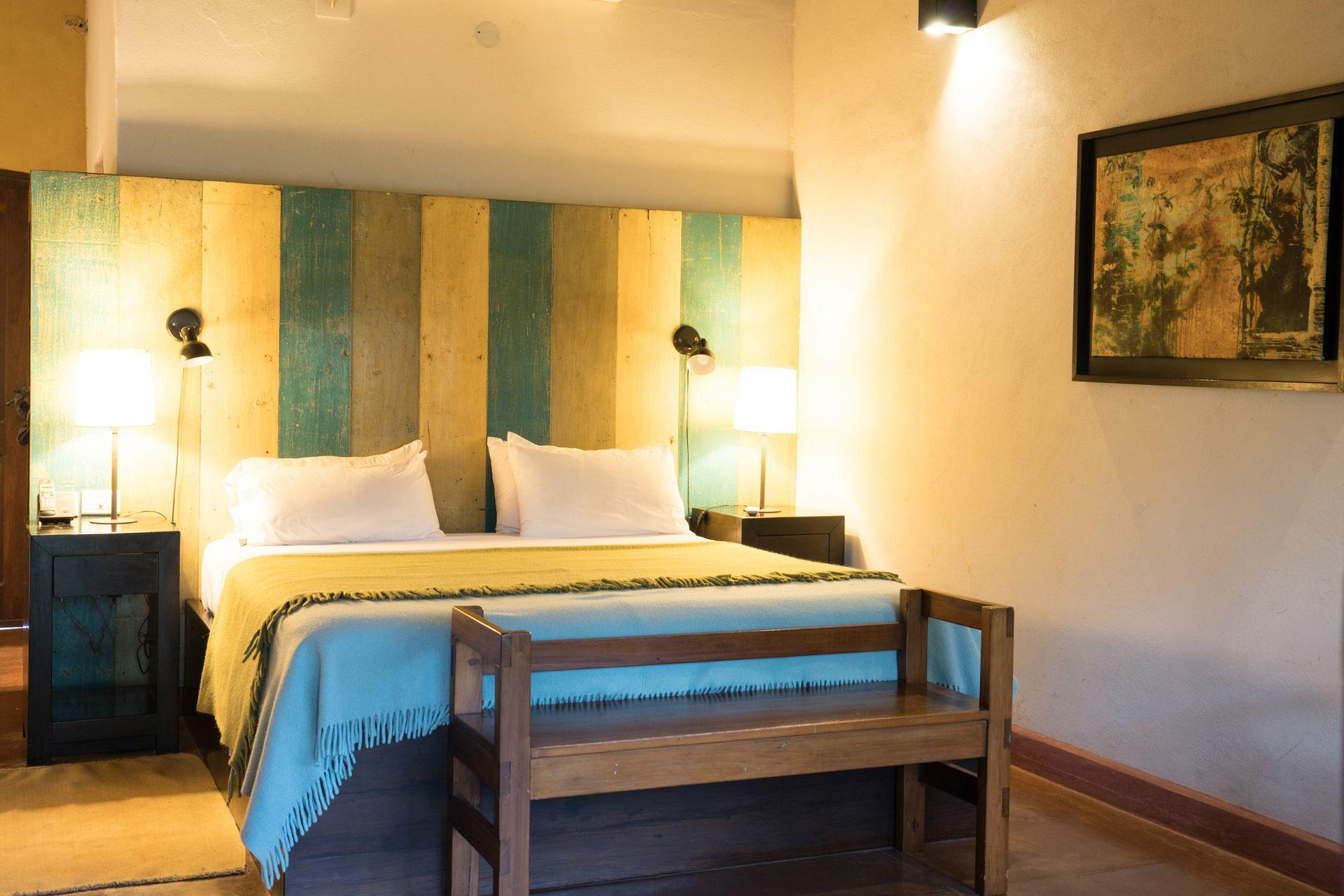 Las habitaciones de Puerto Bemberg son confortables y muy alegres.