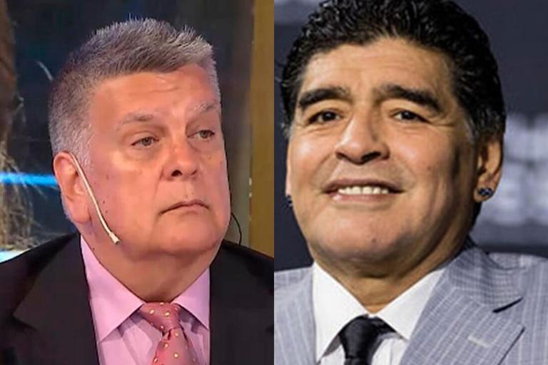 """Luis Ventura recordó su reunión con Maradona: """"Rompió un vaso contra la pared"""""""