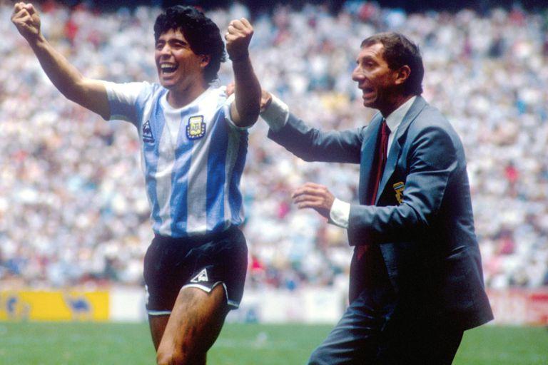Maradona y Bilardo, protagonistas del triunfo argentino en México 86