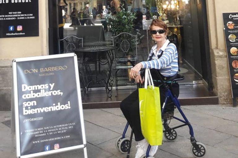 Hilda Bruno viajó a Barcelona para ver a su nieta y, de paso, conocer la ciudad