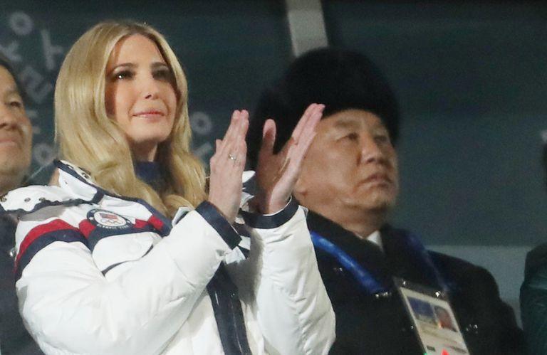 Ivanka Trump en la clausura de los Juegos Olímpicos de invierno en Pyeongchang