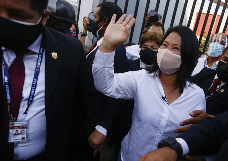 Keiko Fujimori votó en Lima