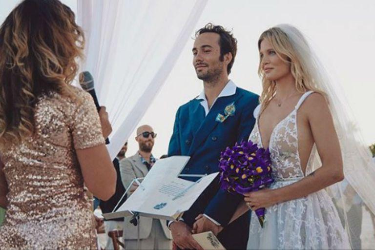 Liz Solari se casó por segunda vez con Walter Fara